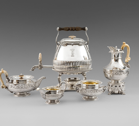 An Important  George III Five-Piece Tea  & Coffee Service
