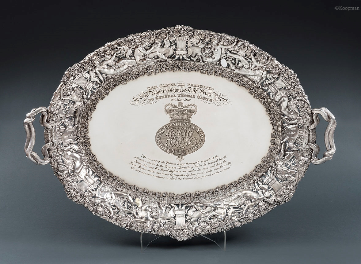 GENERAL THOMAS GARTH'S TRAY, A ROYAL MASTERPIECE