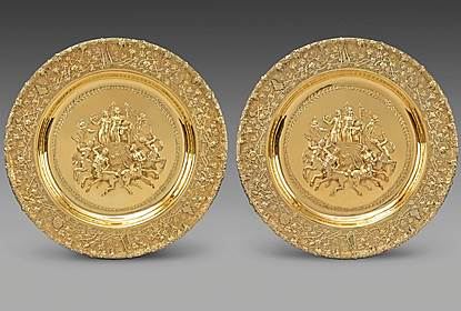 A Monumental & Highly Important Pair of George III Sideboard Dishes