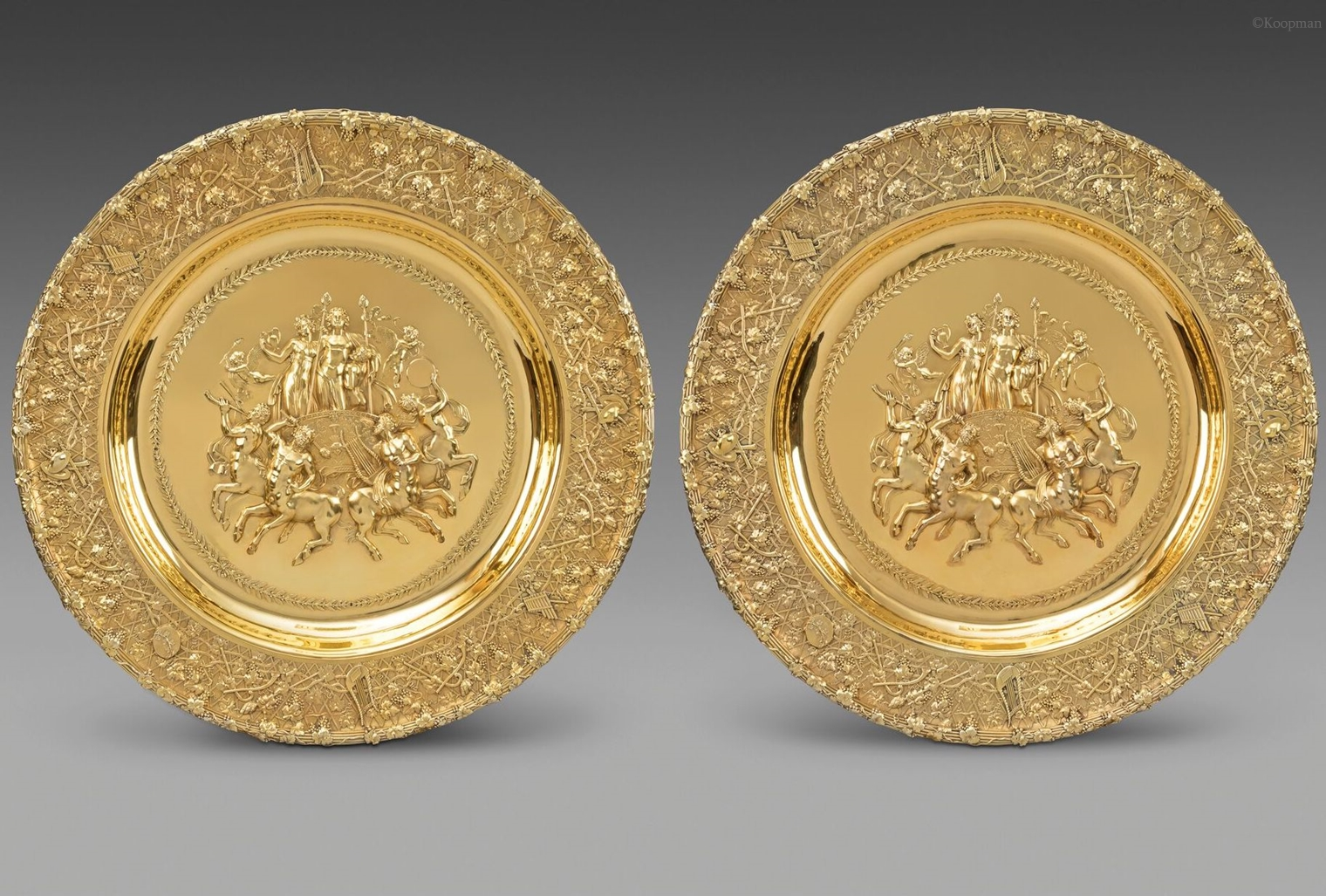 A Monumental & Highly Important Pair of Sideboard Dishes