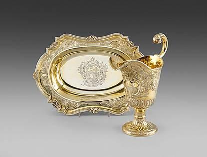 A George II Silver-Gilt Ewer & Basin