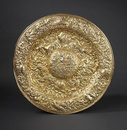 A Charles II Side Board Dish for Sir George Jeffreys (1648-1688)