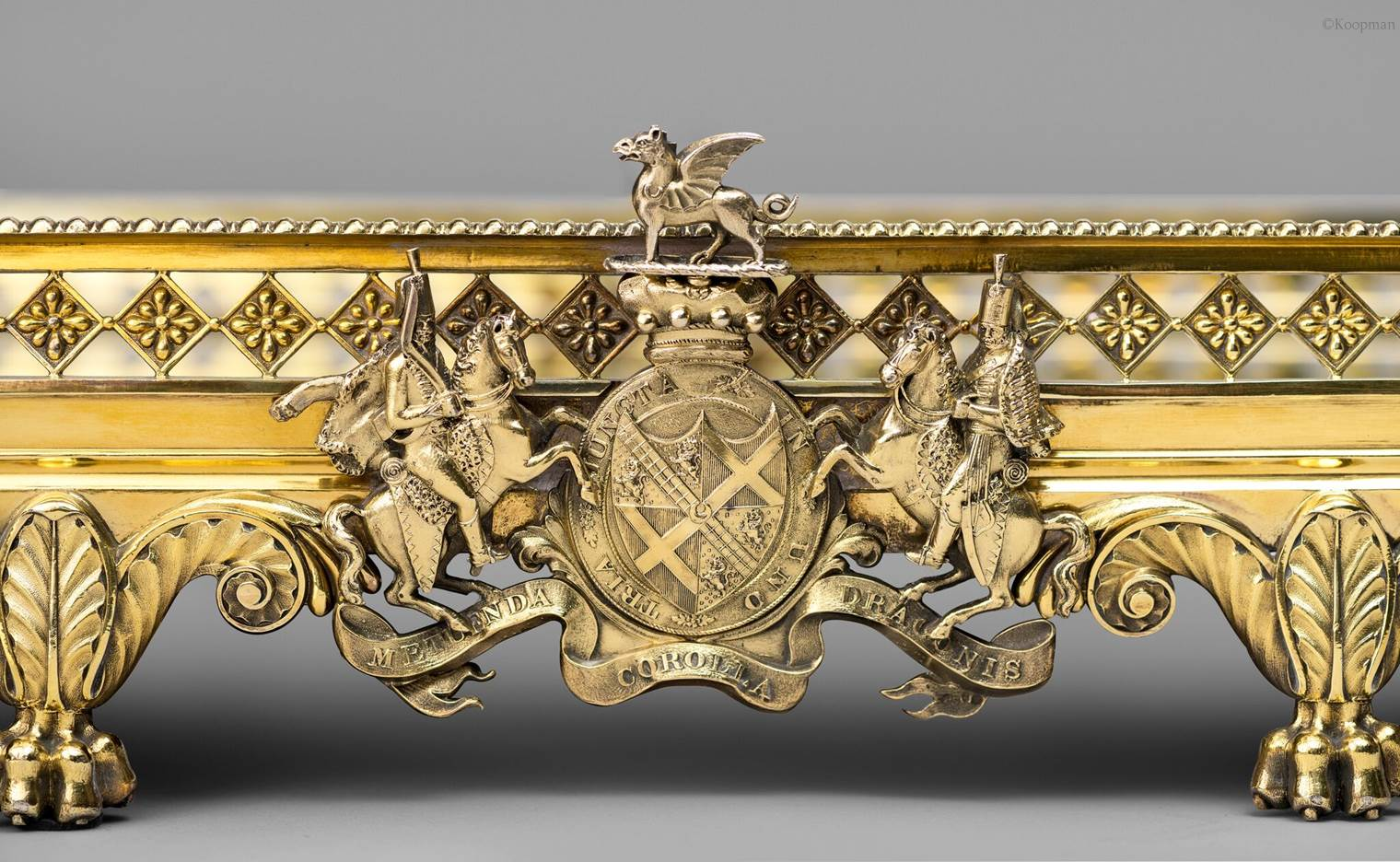 A Highly Important George III Royal Mirror Plateau