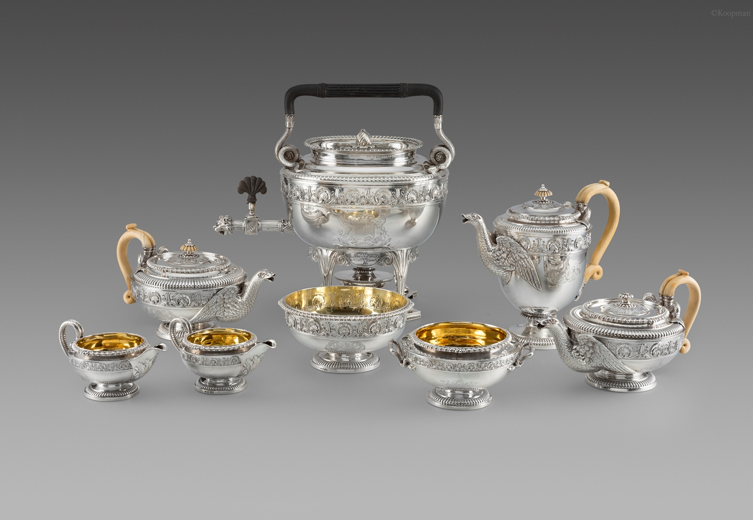 An Exceptional Eight-Piece Tea & Coffee Service