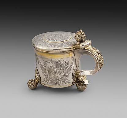 An 18th Century Parcel-Gilt Russian Tankard
