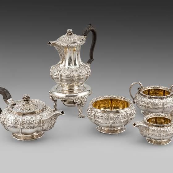 An Five-piece Tea & Coffee Service