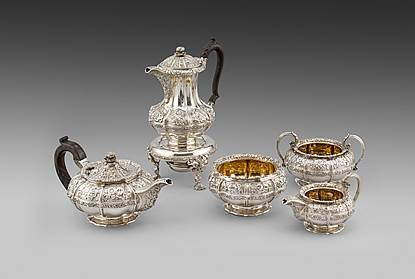 An Five-piece Tea & Coffee Service