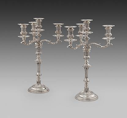 A Pair of Victorian 'Regence' Candelabra