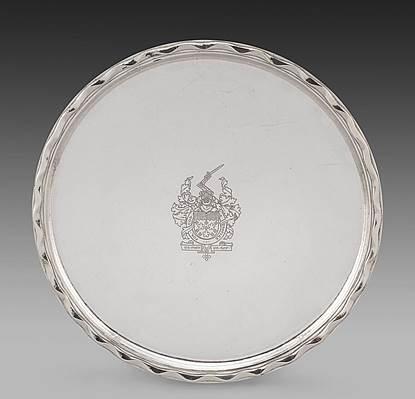 A George V Circular Salver