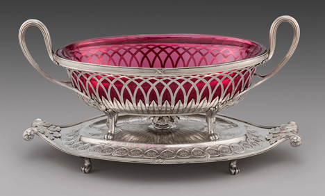 An Elegant Neo-Classical Dessert Centrepiece on Stand