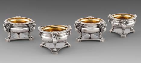 A Superb Set of Four George III Salt Cellars