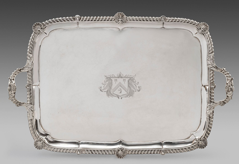 A Large George IV Two-Handled Tray