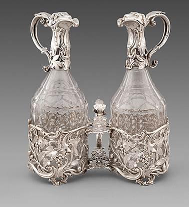 A Superb George II Rococo Oil & Vinegar Cruet