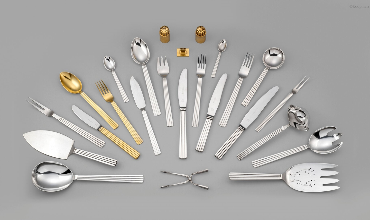 A Danish 20th Century Flatware Service in the Bernadotte Pattern