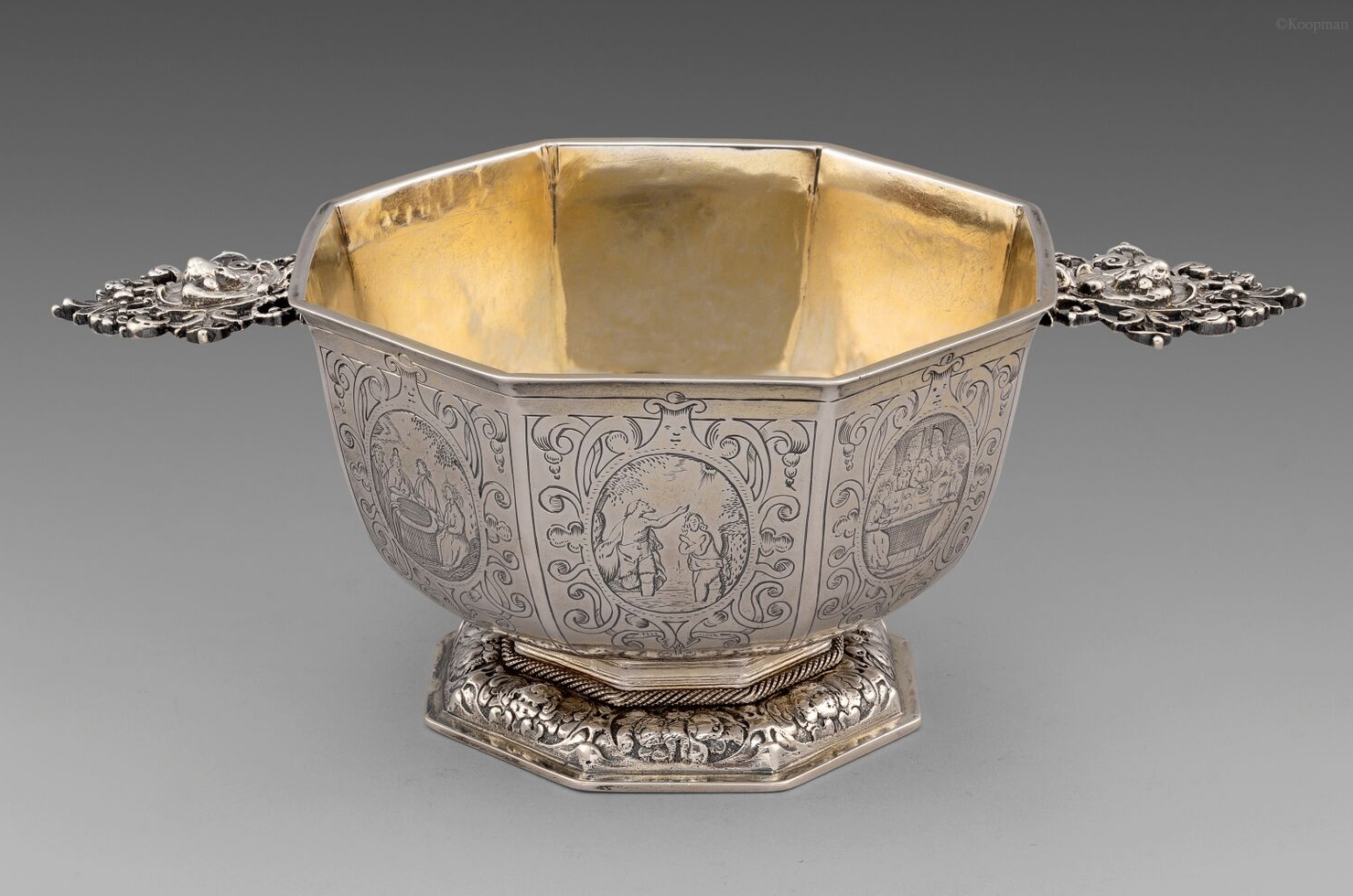 An Exceptional 17th Century Dutch Octagonal Brandy Pan