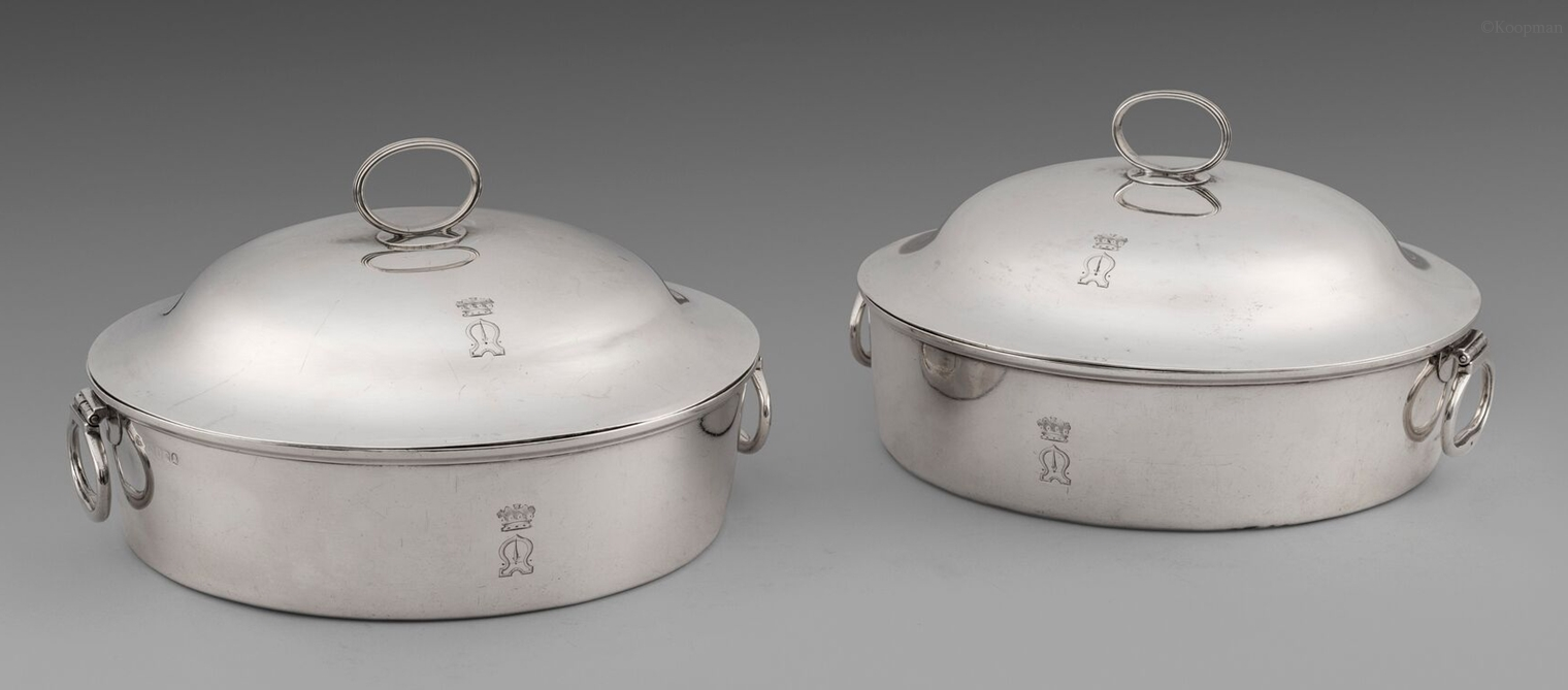 A Pair of George III Entrée Dishes on Warmers