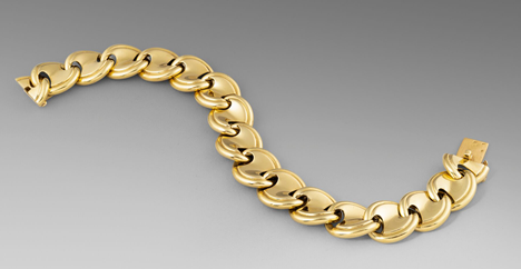 A French Gold Panel Link Bracelet
