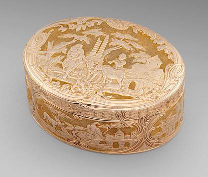 An Exquisite 18th Century German Large Table Snuff Box