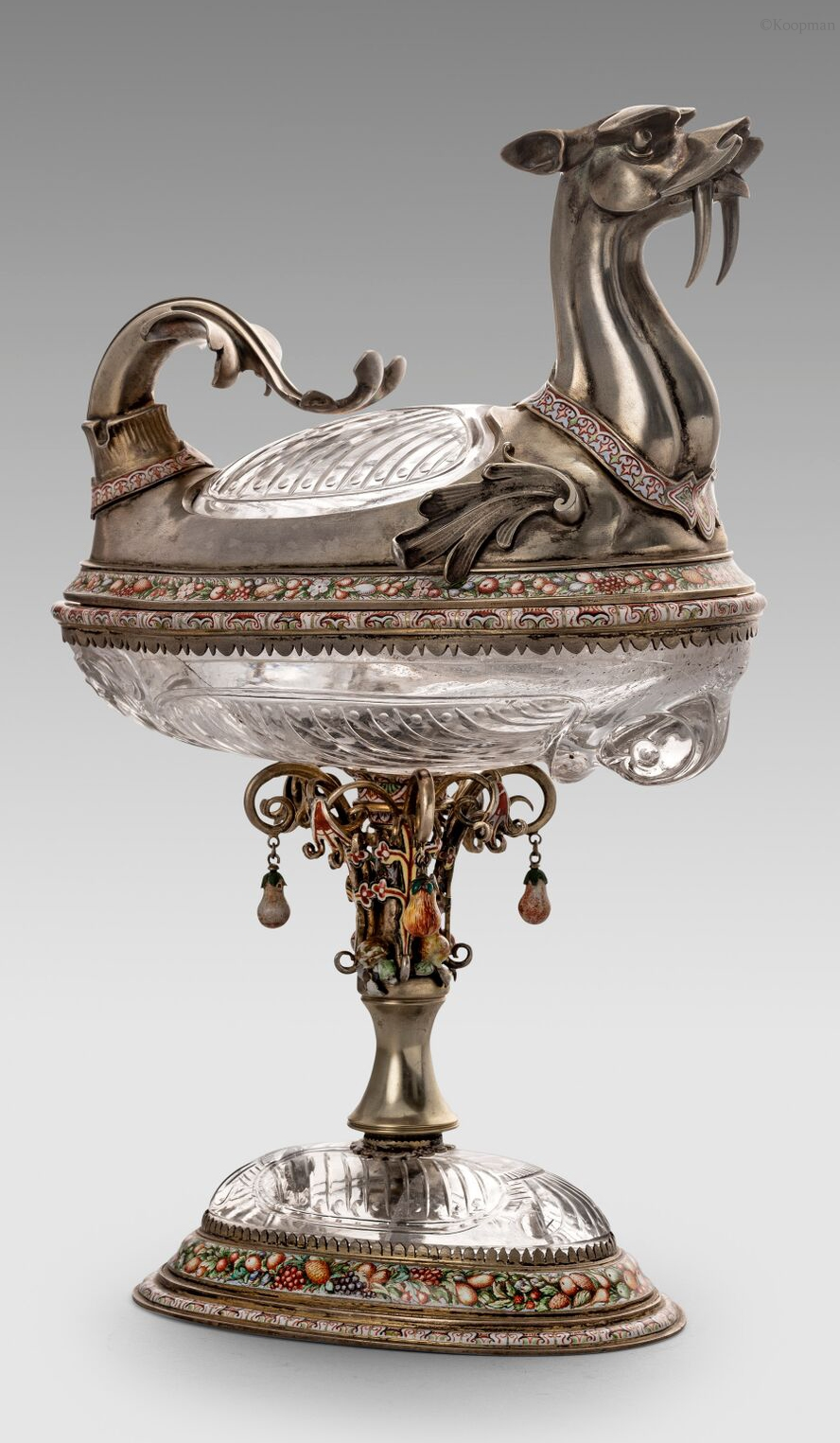 An Austrian 19th Century Cup & Cover