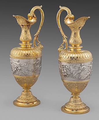 A Pair of Imposing Victorian Ewers