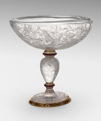 An Austrian Enamel, Gold & Rock Crystal Cup