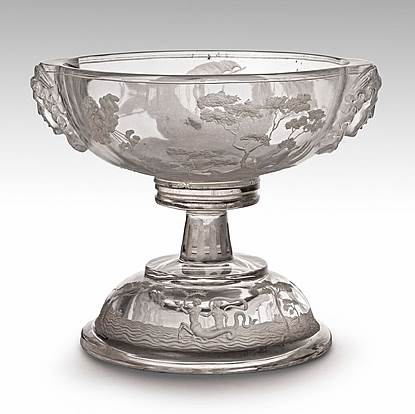 An Austrian 19th Century Rock Crystal Tazza