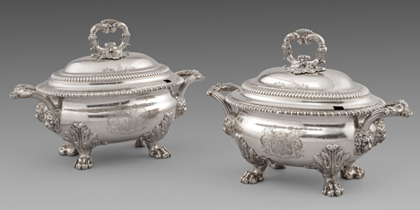 A Pair of George IV Sauce Tureens and Covers