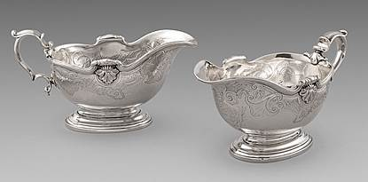 An Important George II Pair of Paul De Lamerie Sauce Boats