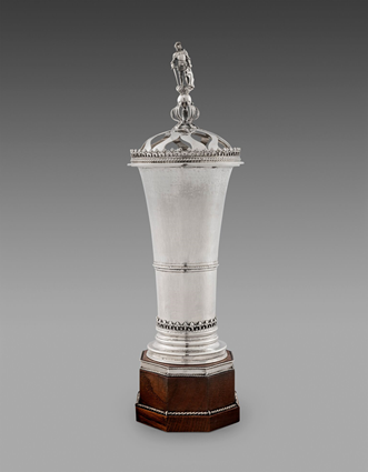 A Cup & Cover with a Knight Finial