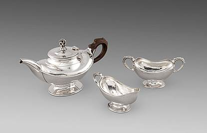 A George V Three Piece Tea Set