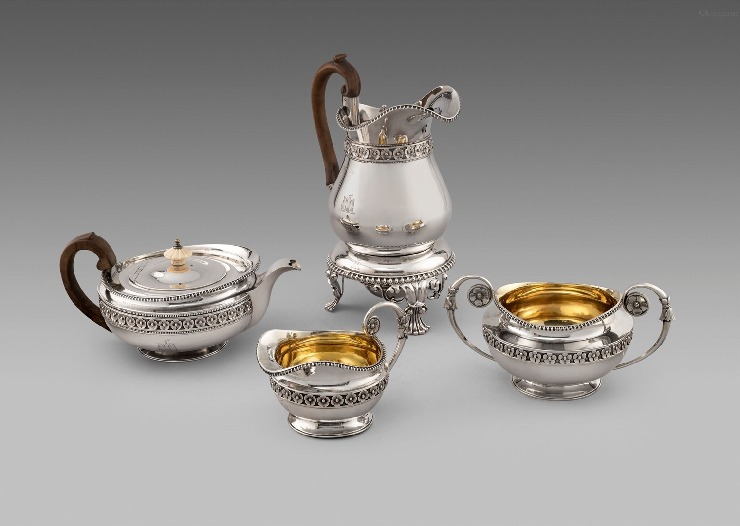 A George III Four Piece Tea & Coffee Service