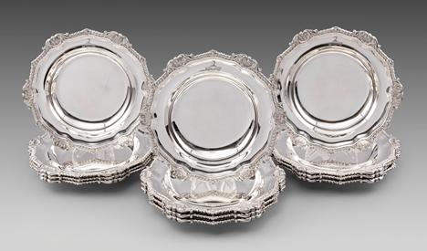 A Rare Set of Twelve George III Soup Plates
