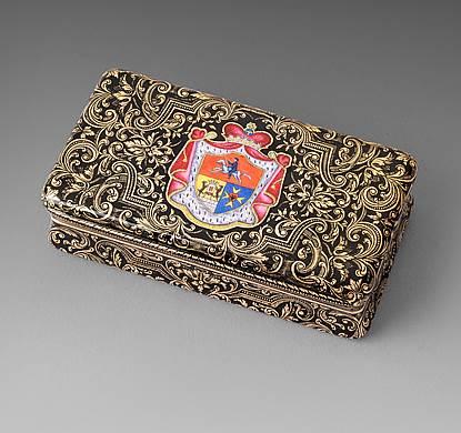 A Swiss Gold & Enamel Snuff Box
