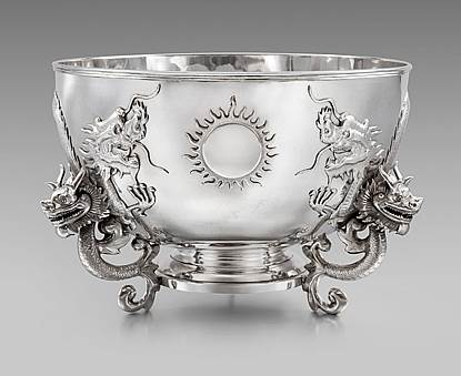 A Massive 19th Century Chinese Punch Bowl