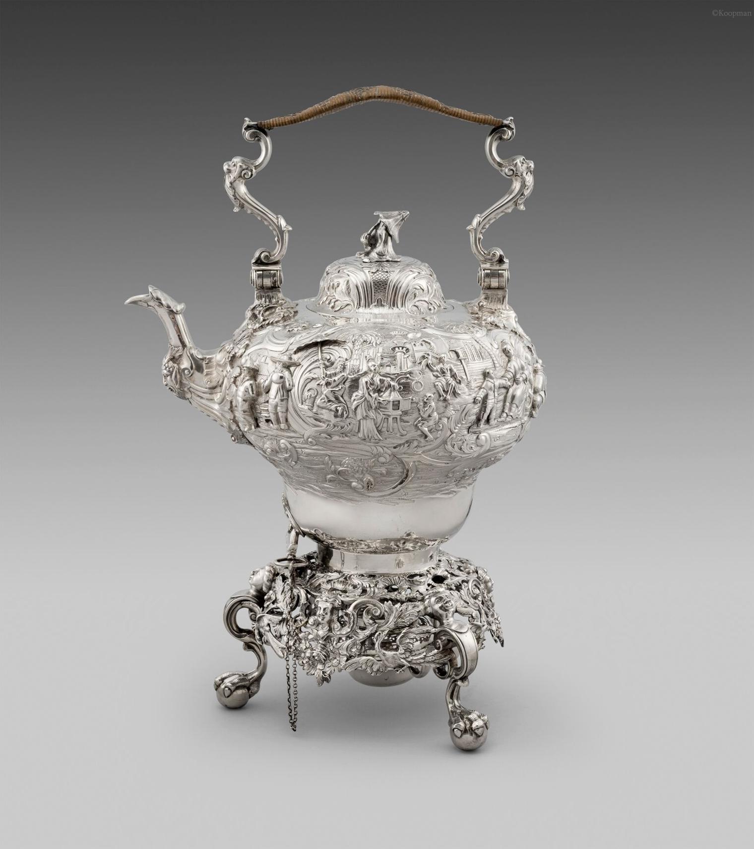 A Victorian Chinoiserie Tea Kettle