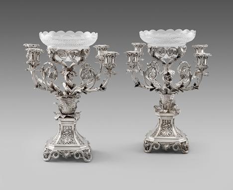 A pair of William IV Centrepieces