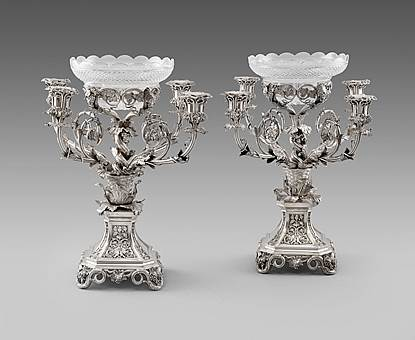 A pair of William IV Centrepieces
