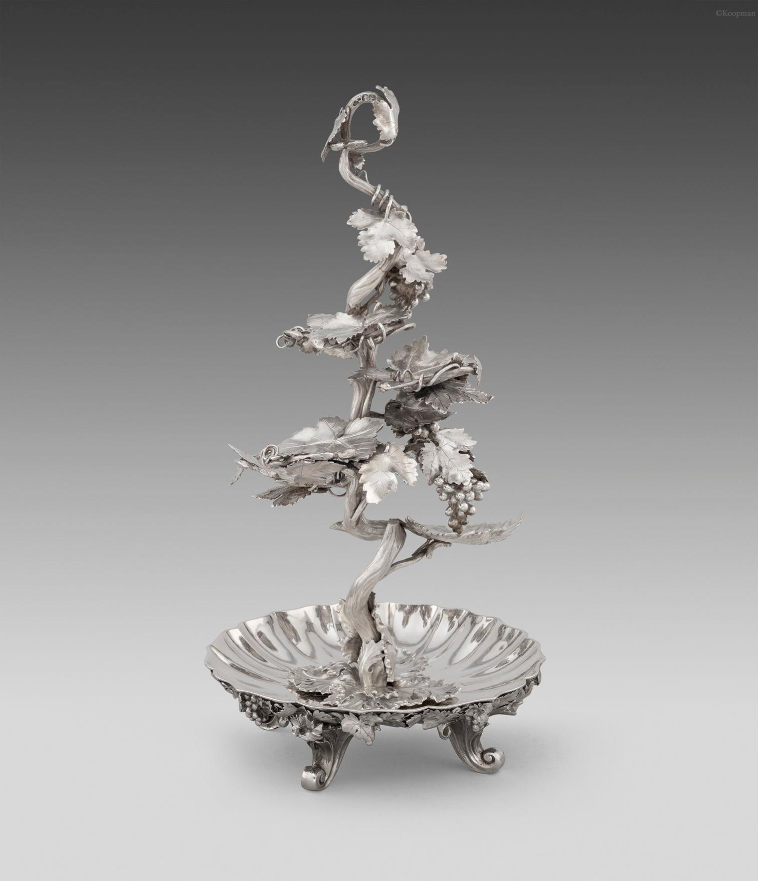 A Rare Victorian Dessert Centrepiece Silver