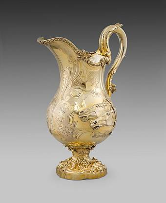 A William IV Silver Gilt Ewer