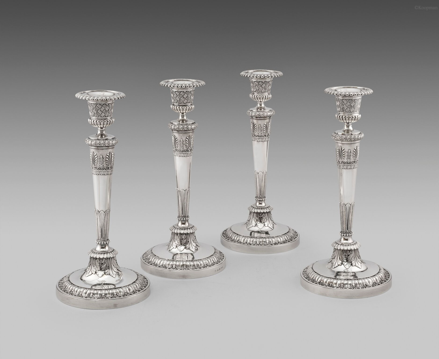 A Set of Four 4 George III Candlesticks