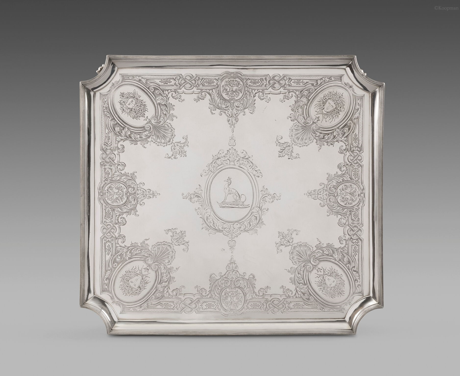 An Elegant Square Salver