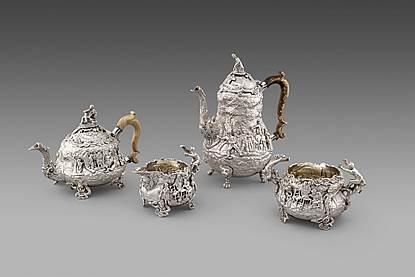 A George IV Five-Piece Tea and Coffee Service