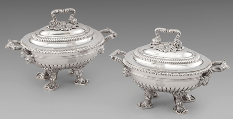 A Pair of George III Sauce Tureens