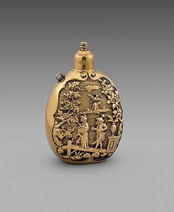 A late 17th Century silver-gilt Scent Bottle