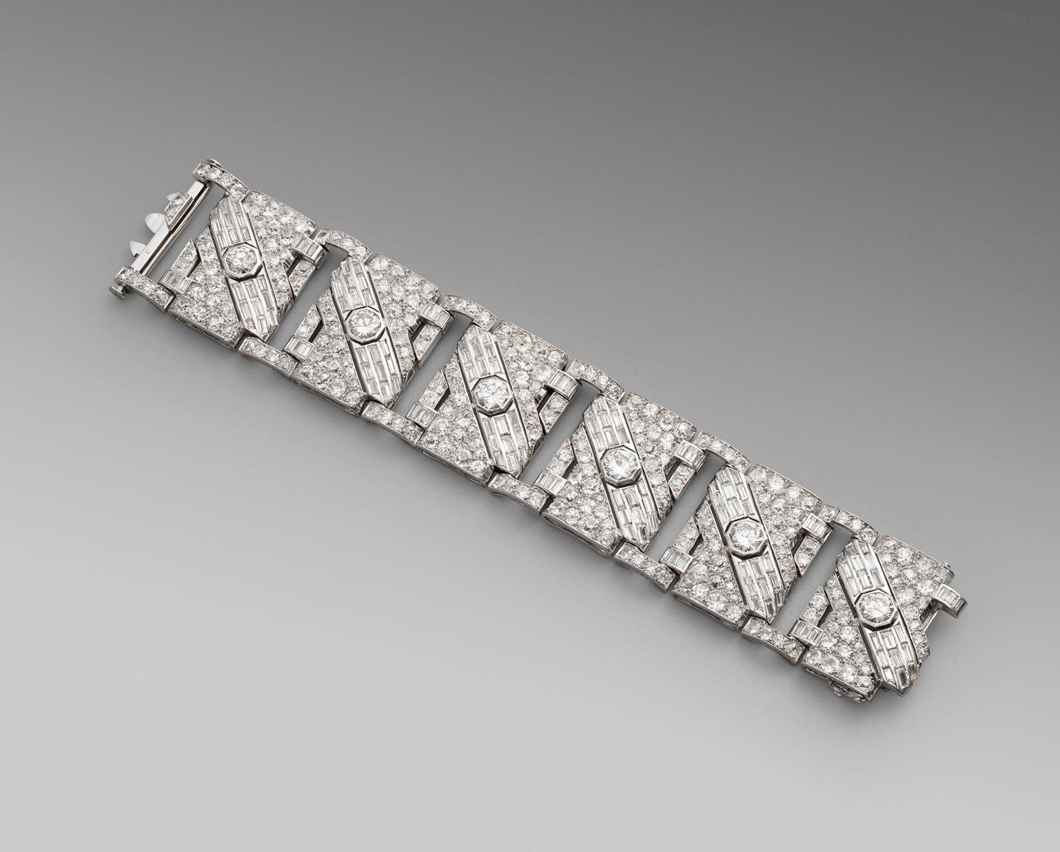An Important Art Deco Diamond Bracelet
