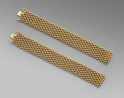 Four 18Ct Gold Bracelets