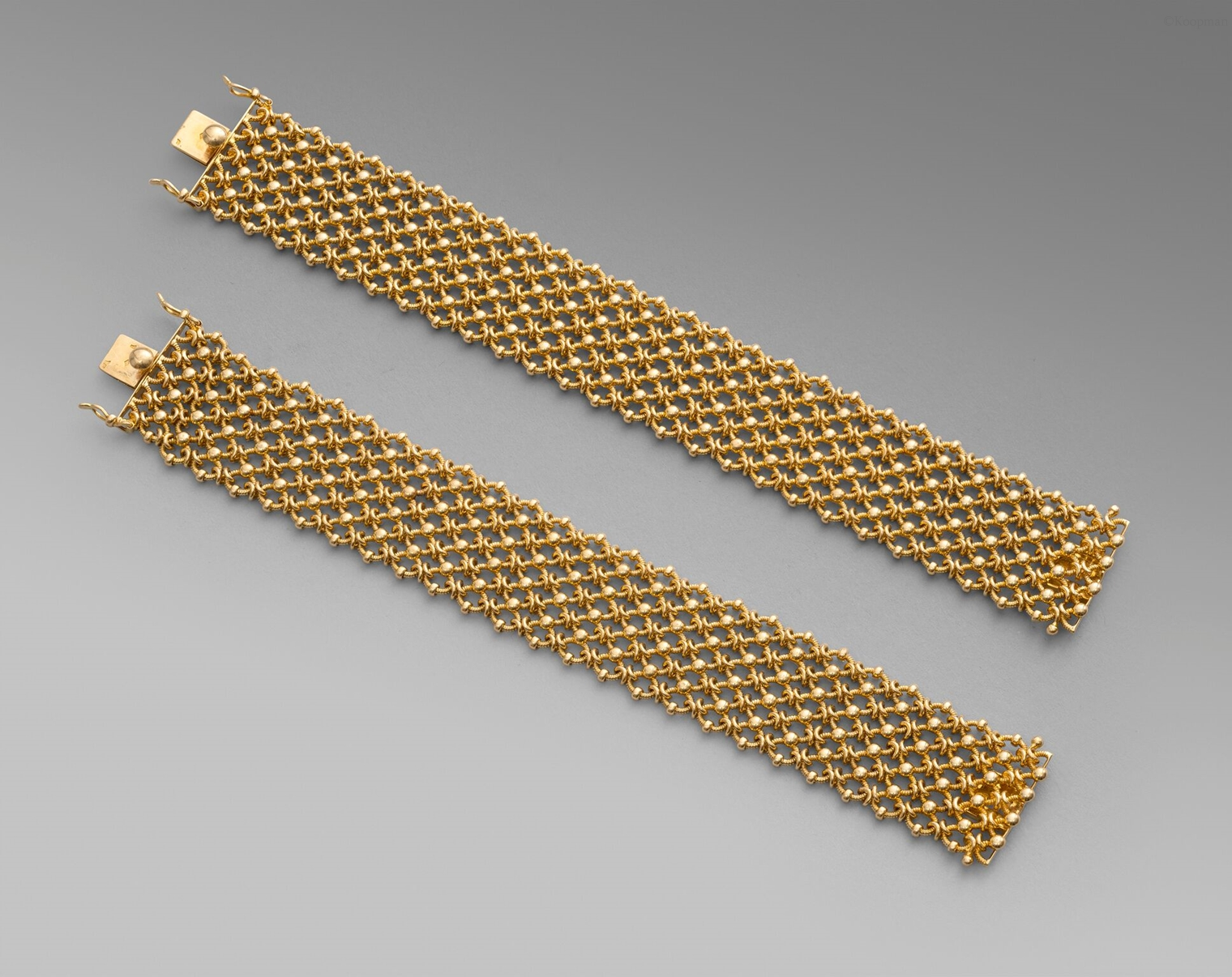 A Pair of 18Ct Gold Bracelets
