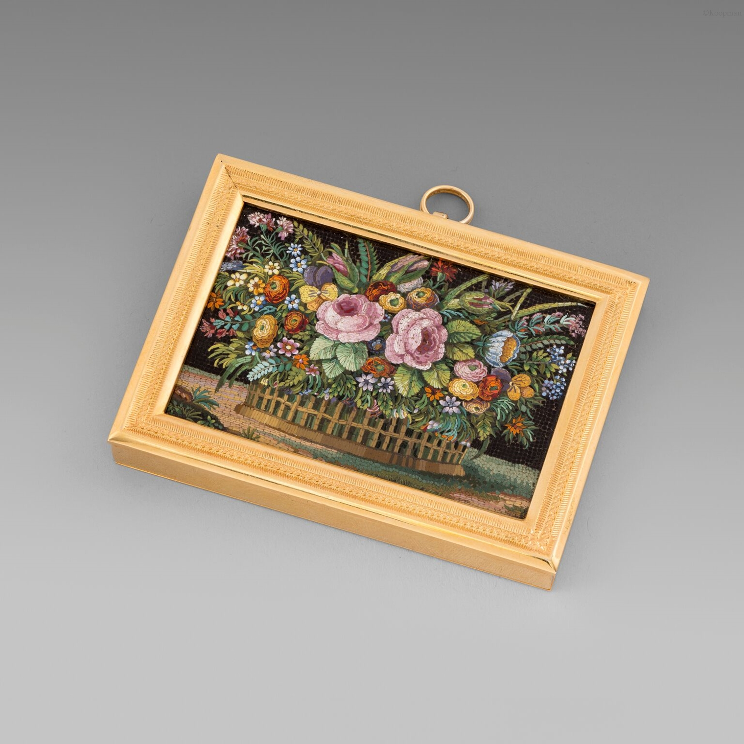 Framed Micromosaic Plaque