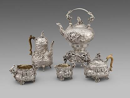 A George IV Five-Piece Tea and Coffee Service