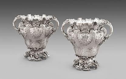 An Exceptional Pair of George IV Wine-Coolers And Liners